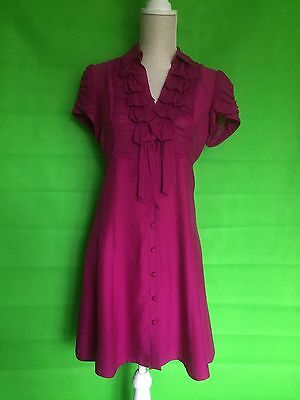 Nanette Lepore Designer Silk Dress Size 6 UK  8/10