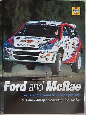 Colin Mcrae + Nicky Grist signed book, ford and Mcrae ,  colin mcrae autograph