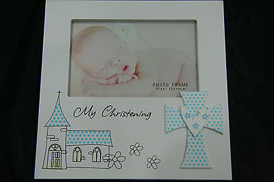 My Christening Photo Frame - Blue Cross Baby Boy Christening Baptism Bomboniere