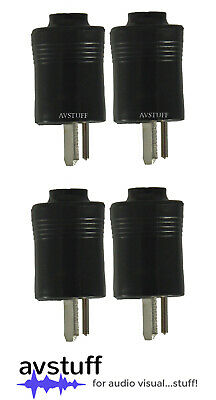 4 x 2 PIN DIN CONNECTOR PLUG suits BANG & OLUFSEN B&O SPEAKERS
