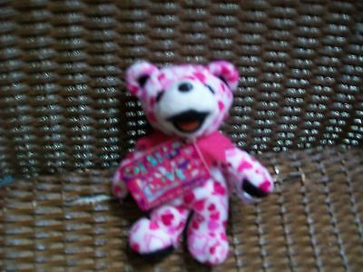 """L@@K NWT COLLECTIBLE NEW PLUSH Grateful Dead Bean Bear """"LIL LOVE"""" GREAT GIFT"""