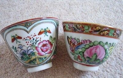 Chinese  porcelain cup-bowl, set of 2
