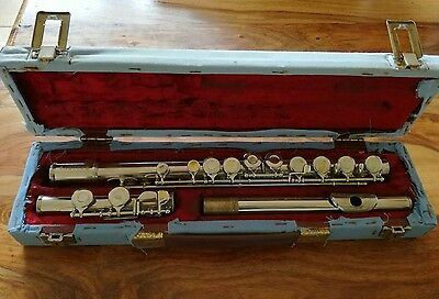 Flute. Sapphire flute and hard case by Rosetti London