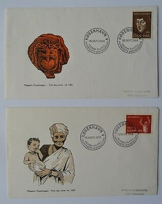 Denmark 1969 & 1970 Danish First Day Covers No 123 & 128