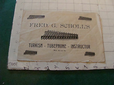 vintage Paper: Fred G Scholls TURKISH - TUBEPHONE - INSTRUCTOR 1800's i show all