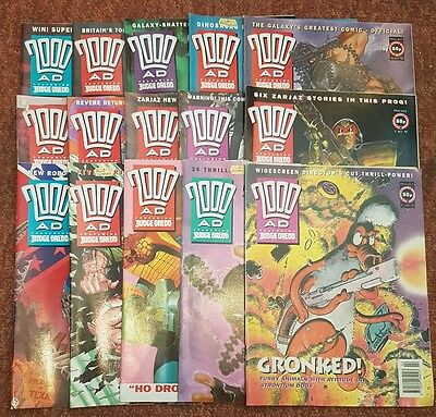 2000ad collection of 15 comics from 1992