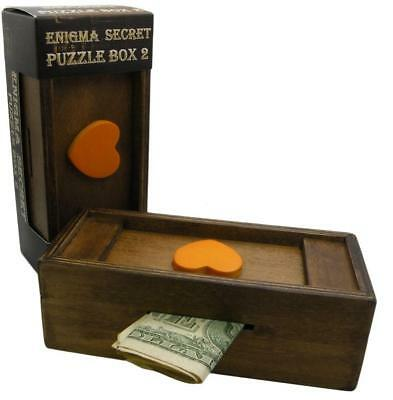 Enigma Secret Puzzle Box Heart - Money Gift Trick Box