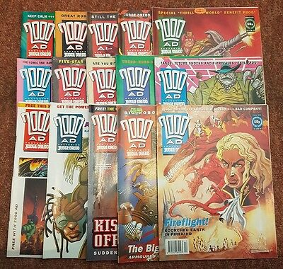 2000ad collection of 15 comics from 1993