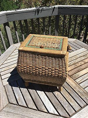 Antique Asian Sewing Basket