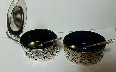 Antique Sterling silver Salt and Pepper cellars - 925 Silver