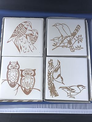 Vintage Bird Tiles By Mosaic Co With Original Boxes