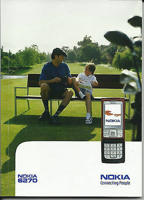 Nokia 6270 Manual – Instructions – Cell Phone - Telephone