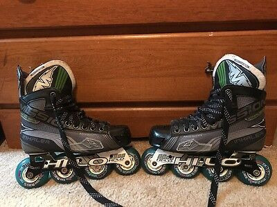 Mission Inhaler AC7 Youth Inline Hockey Skates Excellent Used Condition Size 4E