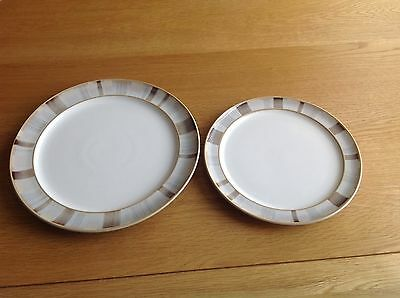 "Denby ""Truffle Layers"" Pattern Plates X 2 Excellent Condition"