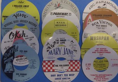 Northern Soul - Record Box Stickers - Set Of 14 Small Size - Various Labels