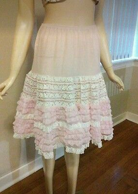 vintage petticoat pink and white