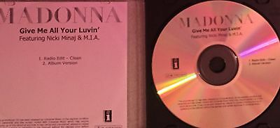 Madonna - Give Me All Your Luvin' - Promo Cd