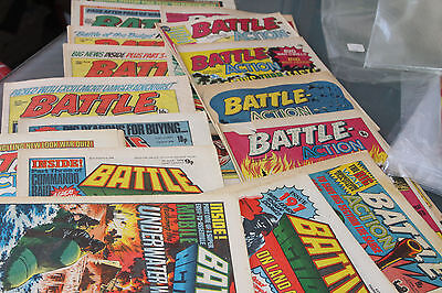 Battle  - 16 Different Issues From 1975-83 Sold As One Large Lot