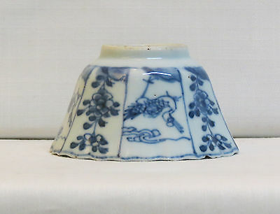 Chinese porcelain octagonal bowl  - blue and white - Kangxi period