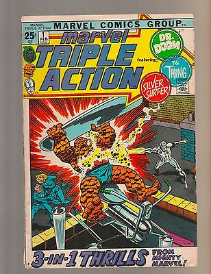Fantastic Four #113 Plus MARVEL TRIPLE ACTION  #1, 2, 3, 4   (FIVE comics total)