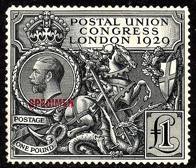 £1 PUC SPECIMEN Type 32 (Red) Fresh Unmounted Mint SG438s RARE STAMP