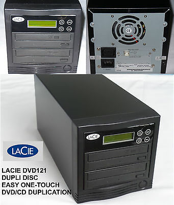 Lacie Dupli Disc DVD121 STANDALONE Duplicator - Burner 16X CD/DVD EASY ONE-TOUCH