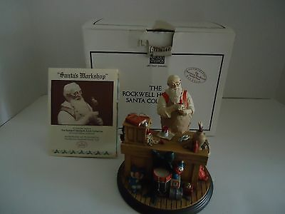 "Rhodes Studio Norman Rockwell Heirloom "" Santa's Workshop "" #82391"