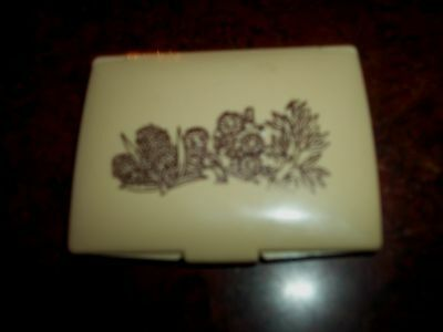 Vintage Coty Sweet Earth Flower Fragrances Purse Compact Great Find!