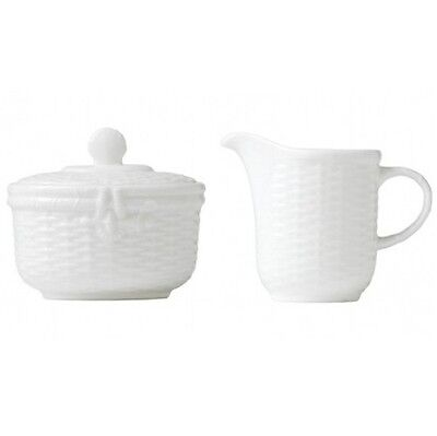 Wedgwood Nantucket Basket Covered Sugar and Creamer (2) Piece New with Tag