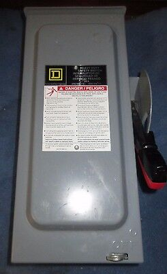 Square D 30 Amp Fused Safety Switch 600 Vac 15 Hp 3 Phase Raintight H361Rb