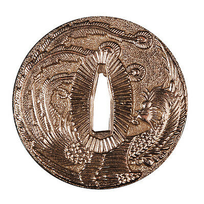 Pattern Zinc Alloy Tsuba Guard For Japanese Katana Wakizashi Tanto Sword New