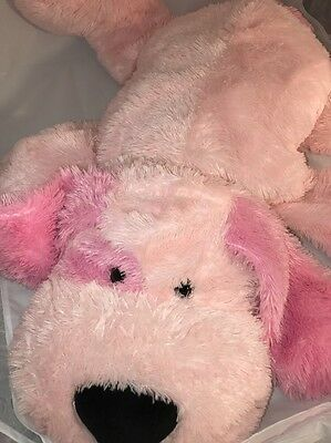 "EASTER GIFT LARGE DANDEE COLLECTORS CHOICE JUMBO PINK Puppy Dog 36"" Pillow"