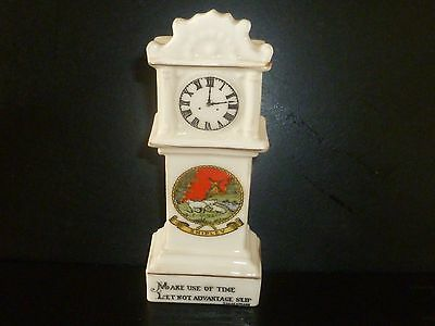 Willow Art Crested China Model Grandfather Clock. Crest of Shipley