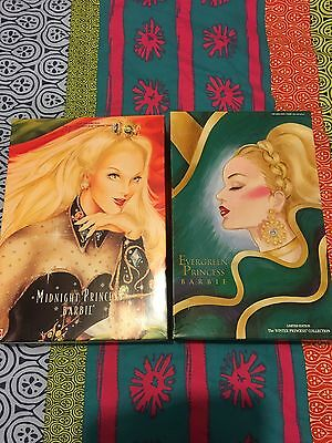 Barbie Lot Of 3 - Midnight & Evergreen Princess & Bob Mackie Barbie Dolls