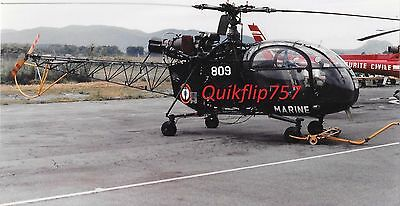 Roger Chenard Real Photo, Aérospatiale Alouette III Helicopter, French Marines