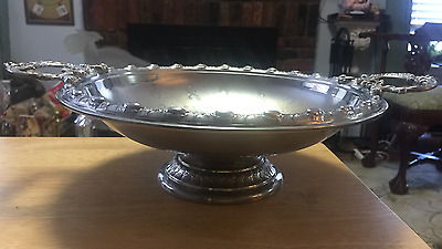 estate silver plated footed bowl with ornate handles-WMF-(WMFN)