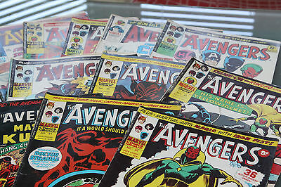 The Avengers - 10 Different Issues 1974-76 Sold As One Lot