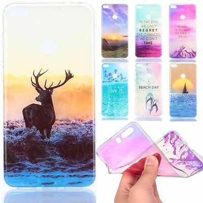 Fashion Pattern Rubber Soft TPU Back Case Ultra-thin Silicone Cover For Huawei
