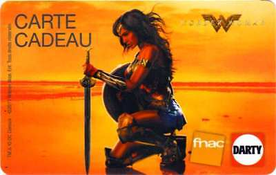 Carte Cadeau Fnac Wonder Woman Dc Comics Gal Gadot Gift Card