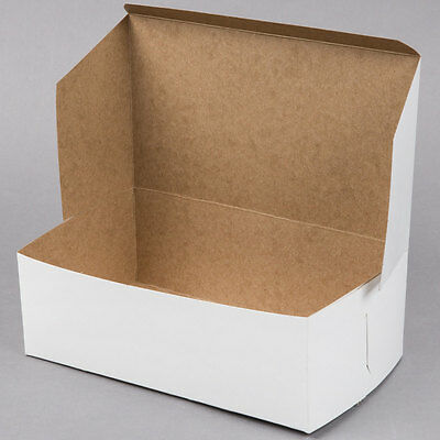 "10"" x 6"" x 3 1/2"" White Cake/Bakery Box"