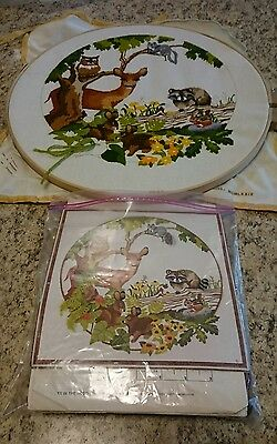 Sunset Designs Babes In The Woods #2445 Cross Stitch Partly Completed
