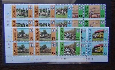 Swaziland 1978 10th Anniversary of Independence set in block x 4 MNH