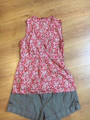 Boden top and Denim Co shorts size 10