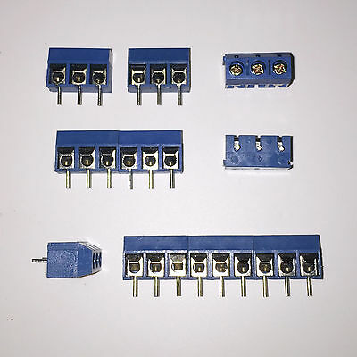 10x 3 Way Terminal Screw Block Connectors 16A 300V | Modular 5mm Pitch for PCB