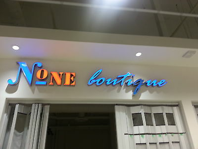Led Store Sign Number One Boutique Rp $2500 Top Quality Clothing Shop