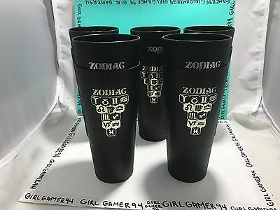 Set Of 10 Vintage Retro 1970s Plastic Zodiac Astrology Tumbler Cups Drinkware