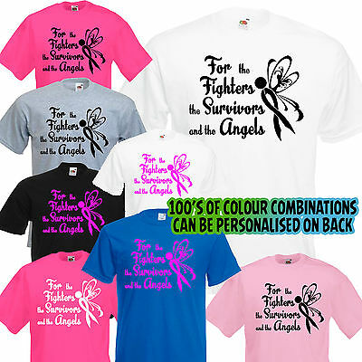 2019 Fighters Survivor Angels PERSONALISED Unisex T Shirt race cancer for life