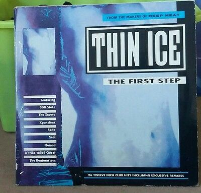 THIN ICE : THE FIRST STEP * Classic Rave Old Skool Double Vinyl Album LP
