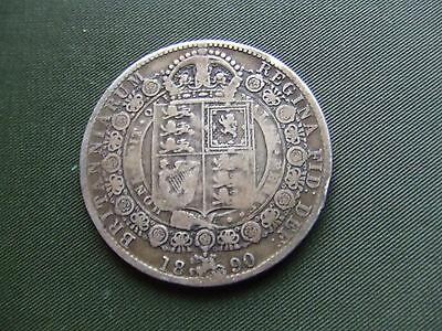 Queen Victoria.  1890, Silver Halfcrown.    Nice Condition.