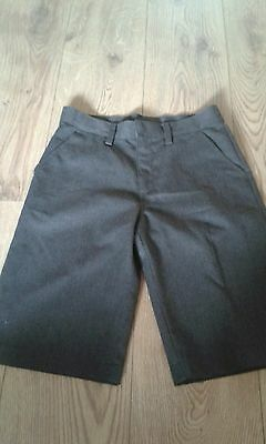 Grey boys school shorts by Next. Age 12 years. Used.